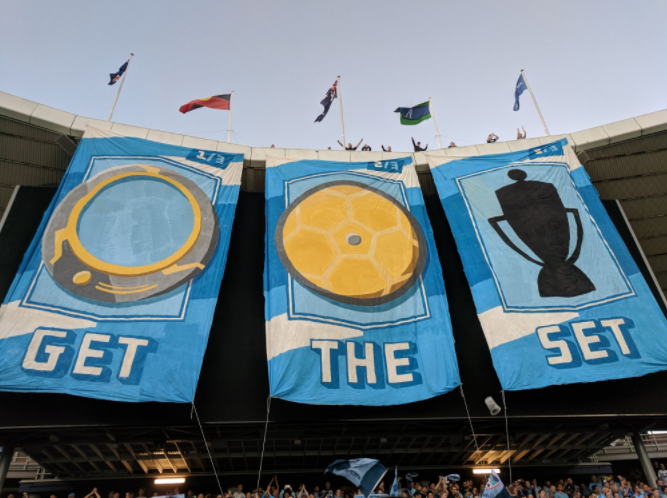 Afición Sydney FC (Foto: twitter @TheCove23)